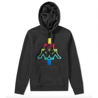 X KAPPA MULTICOLOUR TAPED LARGE LOGO HOODY