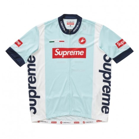 Castelli Cycling Jersey Light Blue
