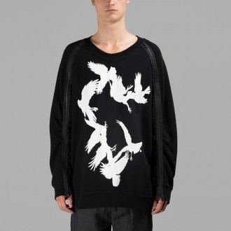 Ann Demeulemeester black bird sweater