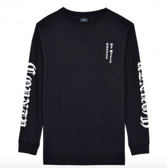 Black long sleeve t-shirt with prints