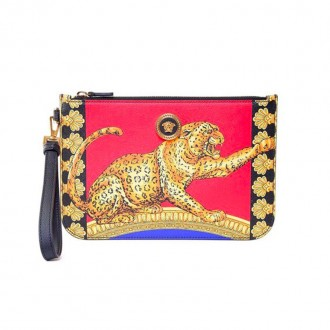Icon Signature Pillow Talk-print leather clutch