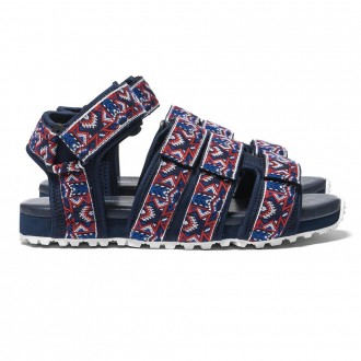 White Mountaineering Vibram Sole Original Taped Sandal Navy