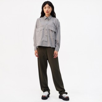 Checkered Oversized Shirt - Checkered