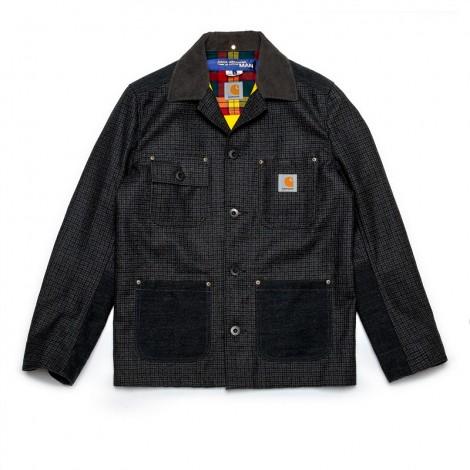 Man Carhartt Jacket (Grey/Black)