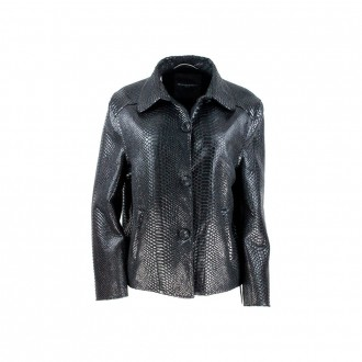 Jacket With Black Python Print Buttons