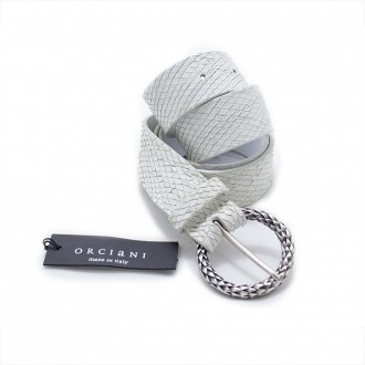Belt In Milk White Scales Leather