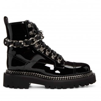 Chain Army Boots