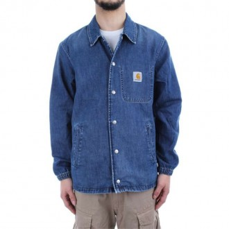 CARHARTT CH DENIM COACH JACKET BLUE TRUE STONE