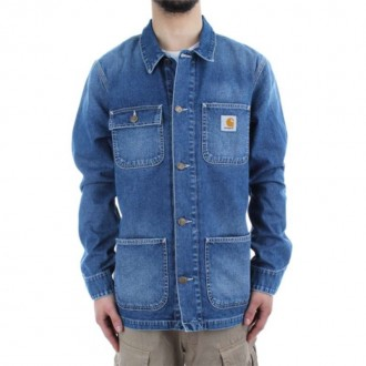 CARHARTT CH MICHIGAN CHORE COAT BLUE TRUE STONE