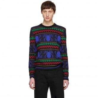 maglione Rayures Araignées