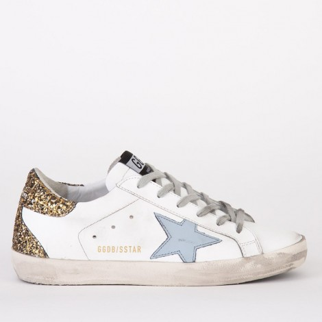 Sneakers White Leather Gold Cocco Sky Star