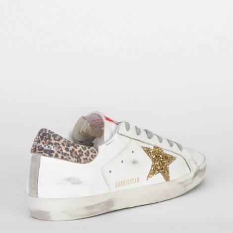 Sneakers Superstar White/gold Yellow/beige Brown Leo