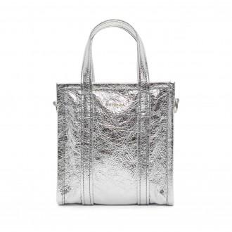 Borsa shopper argento XXS Bazar