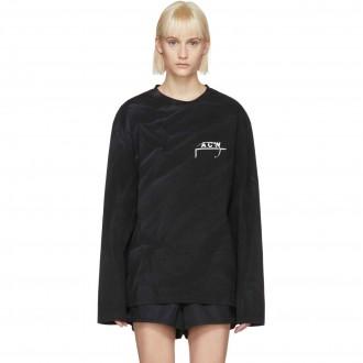 T-Shirt nera manica lunga 17 Leavers