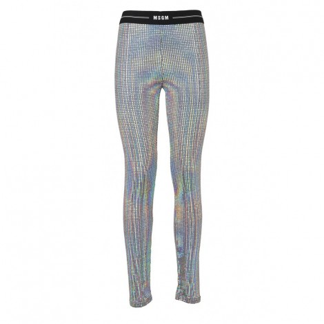 Silver Iridescent Leggings