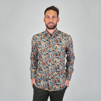 Dandy Life Shirt With Flowers Pattern