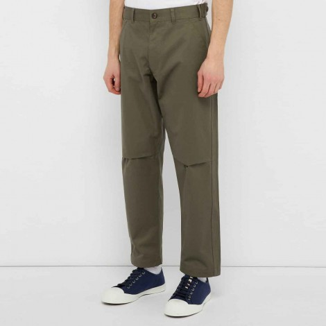 Pantaloni in cotone tapered fit
