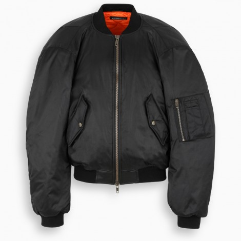 Steroid Black Bomber Jacket