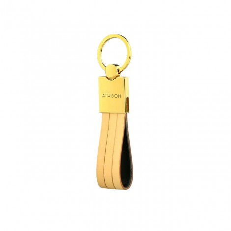 STRIPES KEYRING NATURAL