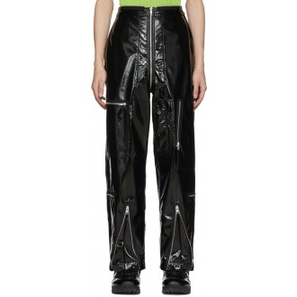 Shiny Coated Zip Trousers