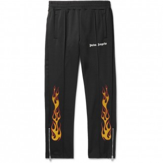 Tapered printed track pants