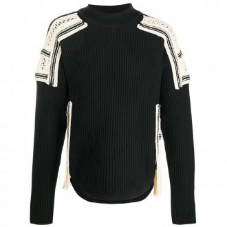 Black Wool-cotton Blend Sweater