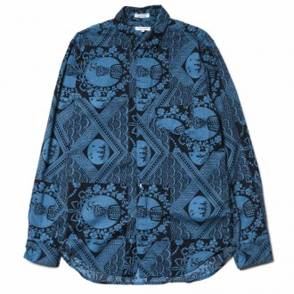Engineered Garments Short Collar Shirt/ Ethnic Print