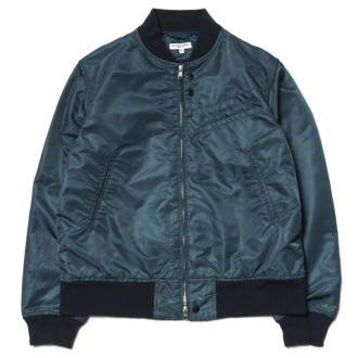 Engineered Garments Aviator Jacket/ Flight Sateen Dk.Navy