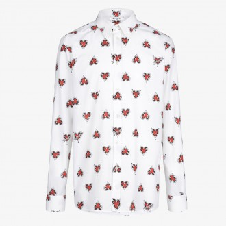 Cotton shirt with hearts print