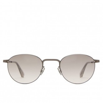 Rin round-frame stainless steel sunglasses