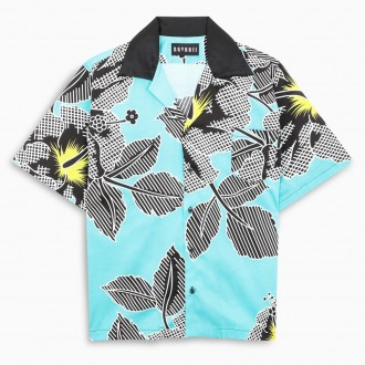 Light Blue Shirt With All-over Print