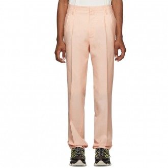 Mohair pleated trousers