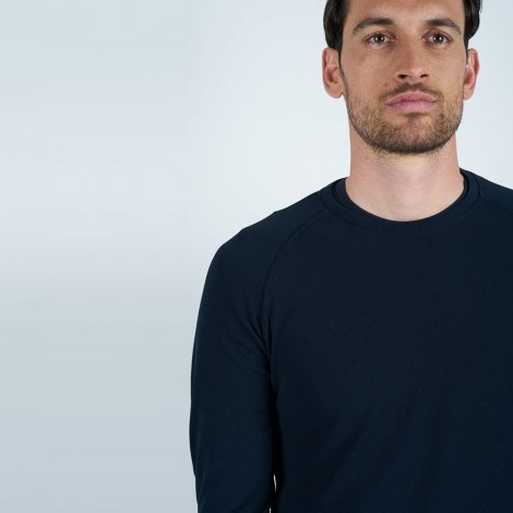 Crewneck Sweater In Solid Color