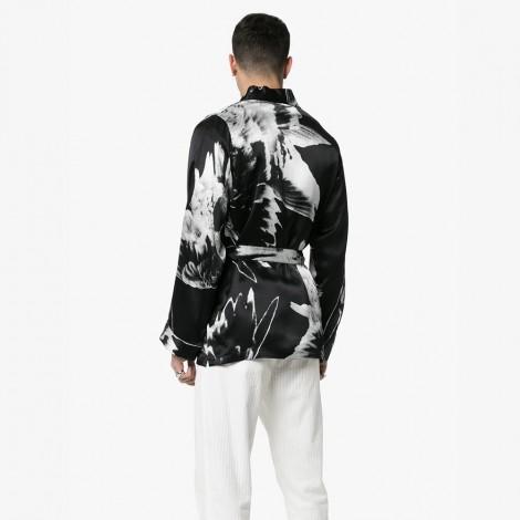 Floral print kimono jacket