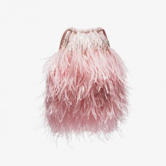 Ostrich feather pouch