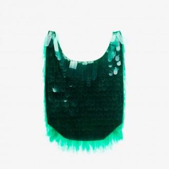 sequin-embellished tote bag