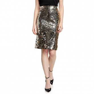 Embroidered plexi glass skirt
