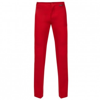Fitted high-rise tailored trousers