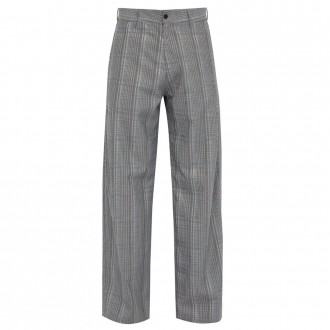 Wind checked trousers