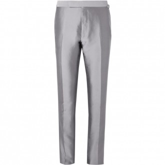 Silver shelton twill suit trousers