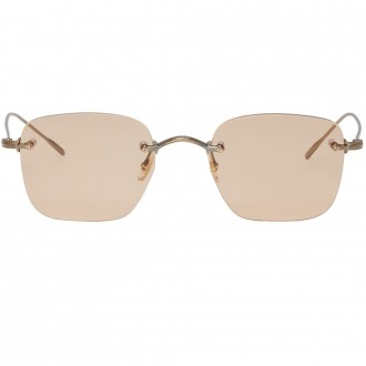 Gold & brown finne sunglasses