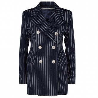 Stripe double-breasted jacket