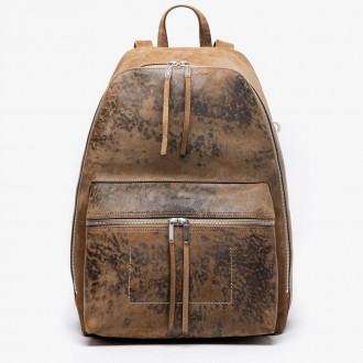 Leather vintage-like backpack
