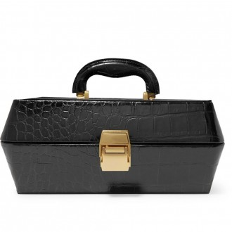 Lincoln croc-effect leather tote