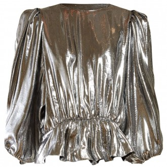 Kyama metallic-crepe top