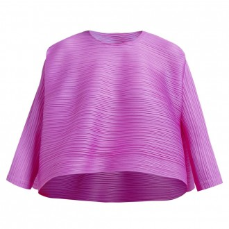 Merry bounce tech-pleated top