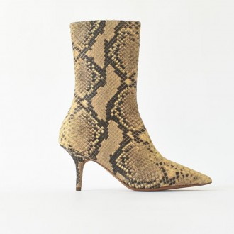 Stretch python ankle boot