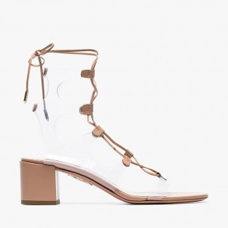 milos lace-up leather sandals