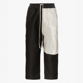 Cropped panelled track pants