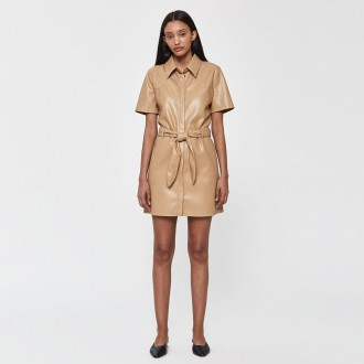 Roberta belted short sleeve dress